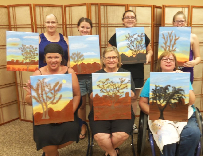Painting while on vacation in Sedona at Los Abrigados Resort