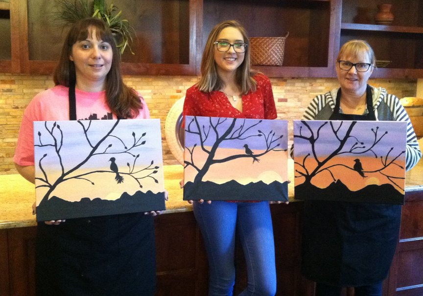 Paint Along for Fun afternoon class at Hyatt Pinon Pointe in Sedona