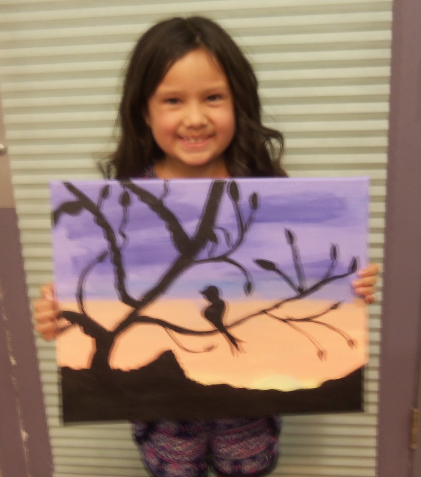 Young Artist Loves to Paint in Sedona