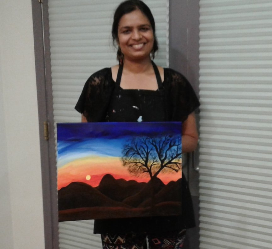 Painting in Sedona for relaxation and fun