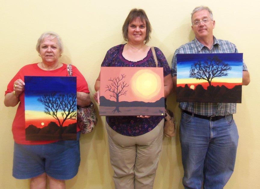 Paint Along For Fun for Sedona vacationers