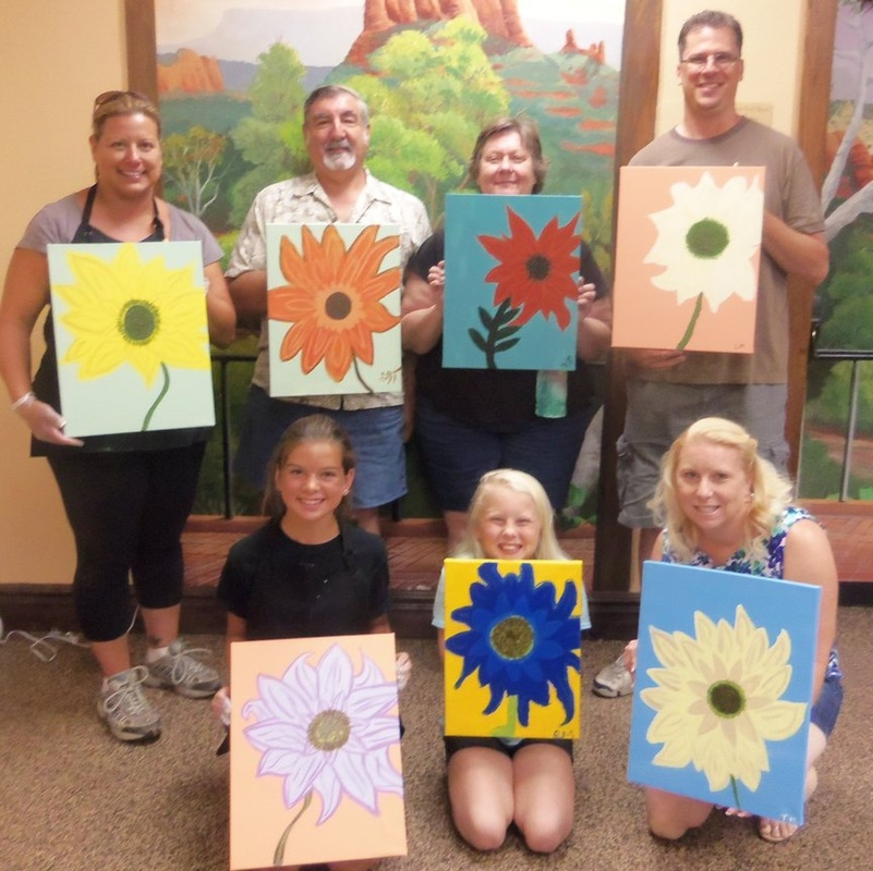 painting for fun on Sedona vacation