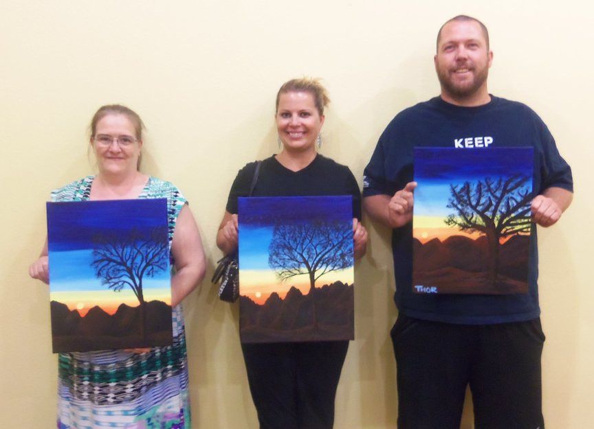 Paint Along For Fun in Sedona while vacationing