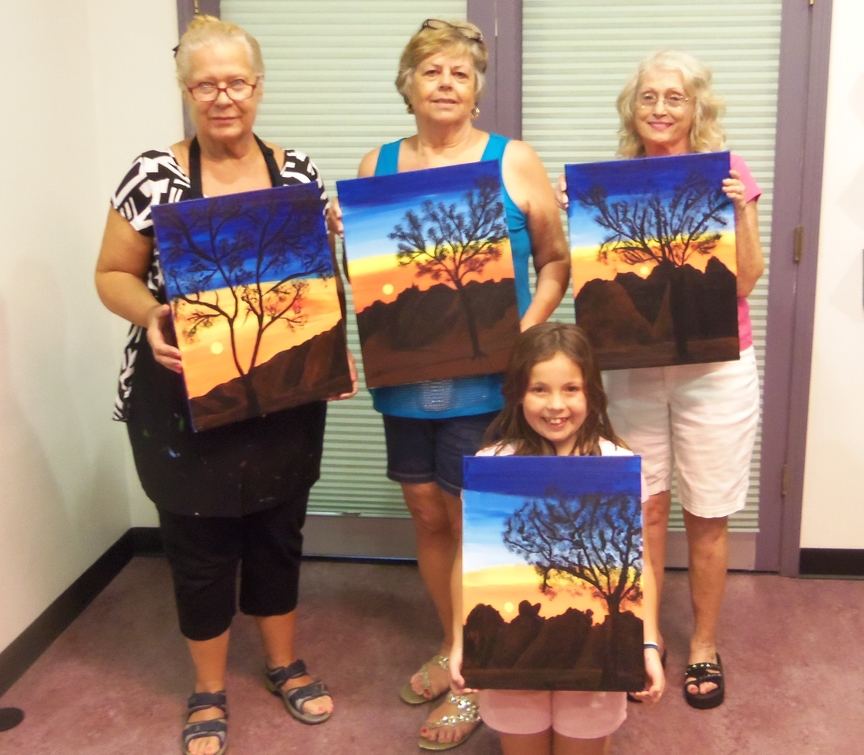 Painting for Fun in Sedona