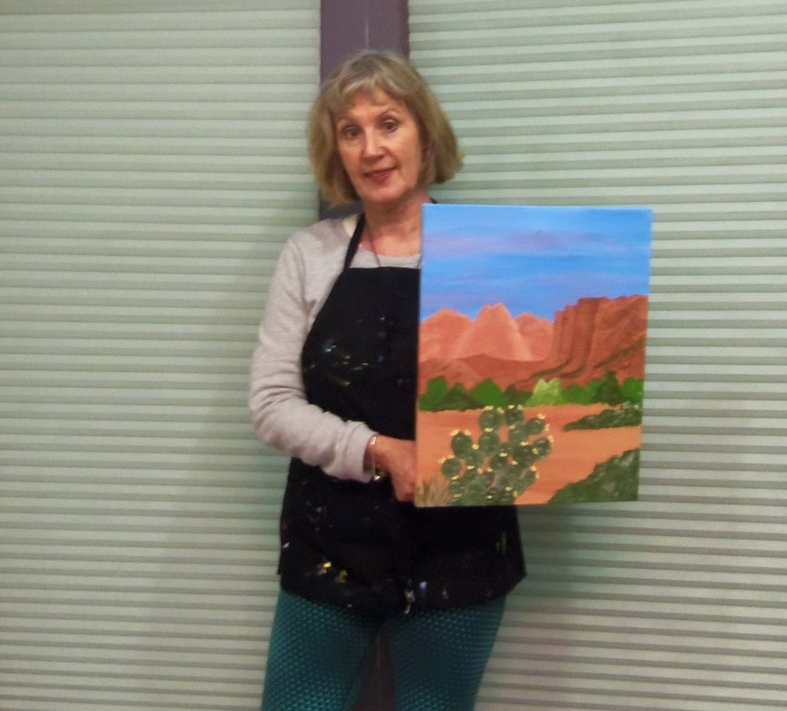 Painting a Sedona Landscape with acrylics