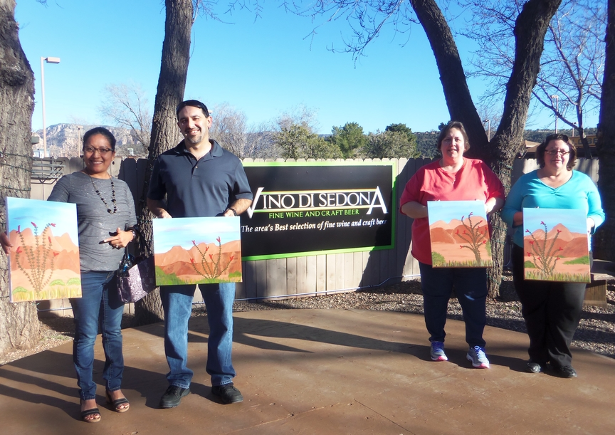 Sociald Painting in Sedona
