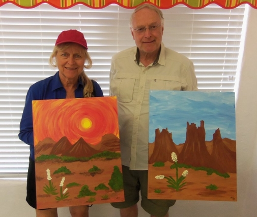fun art at Sedona paint along