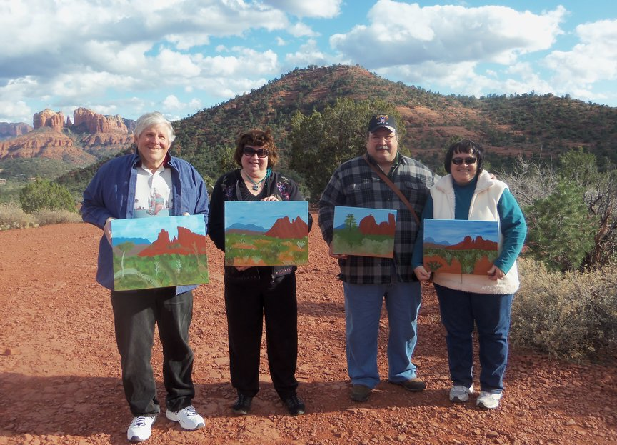 Paint Along of magnificent Sedona view