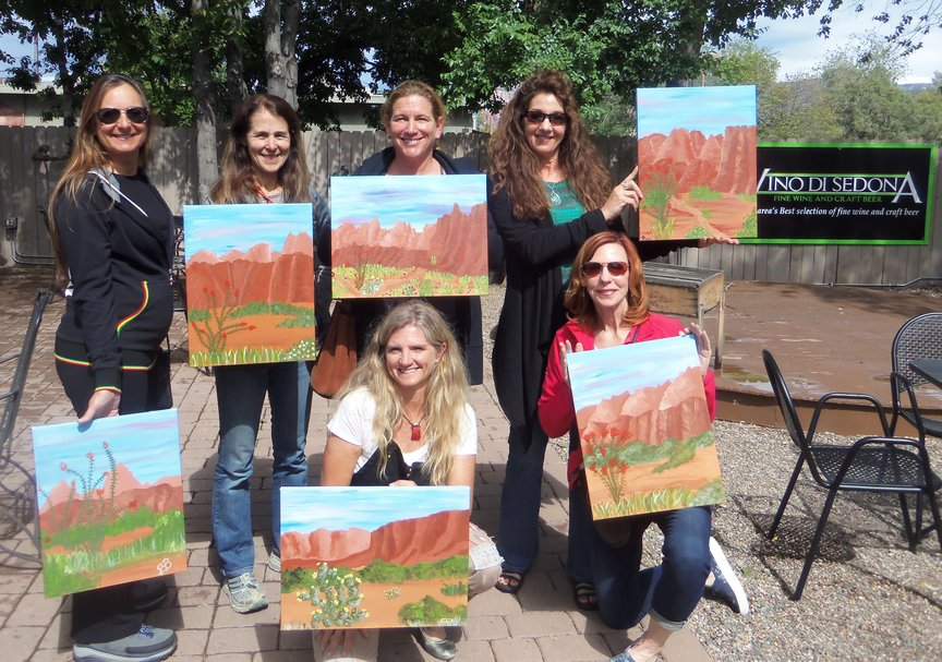 Girls' Fun Weekend Painting in Sedona