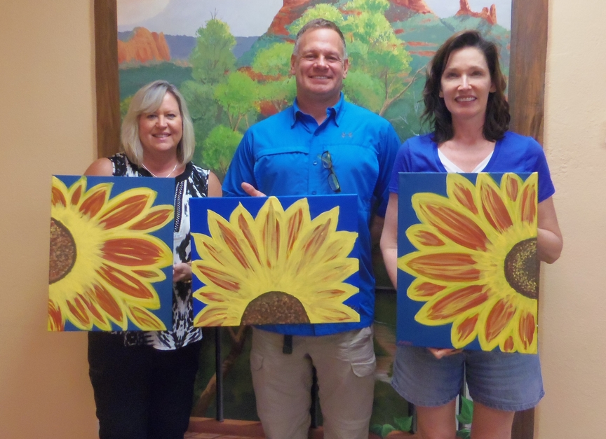 Painting Sunflowers in Sedona
