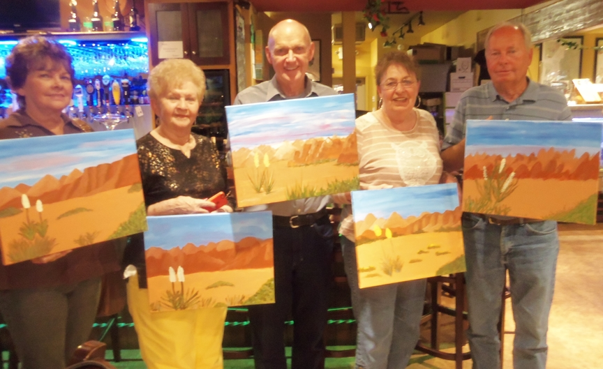 Afternoon of Social Painting at Vino Di Sedona
