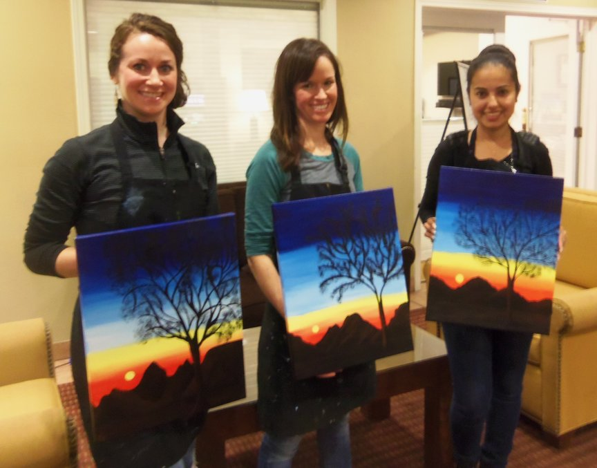 Two Hours of Creativity in Sedona with Paint Along For Fun