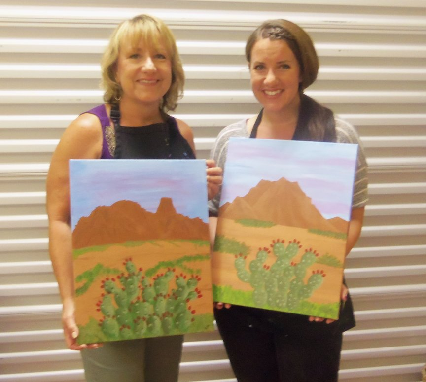 Painting Sedona's Mountains
