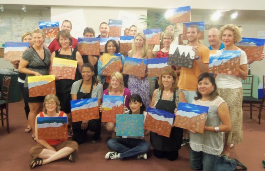 team building paint along in Sedona