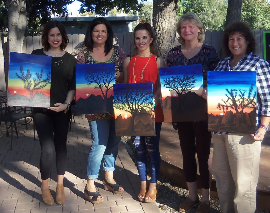 Social painting in Sedona at the Wine Bar