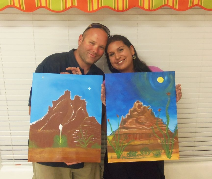 paint along date night in Sedona