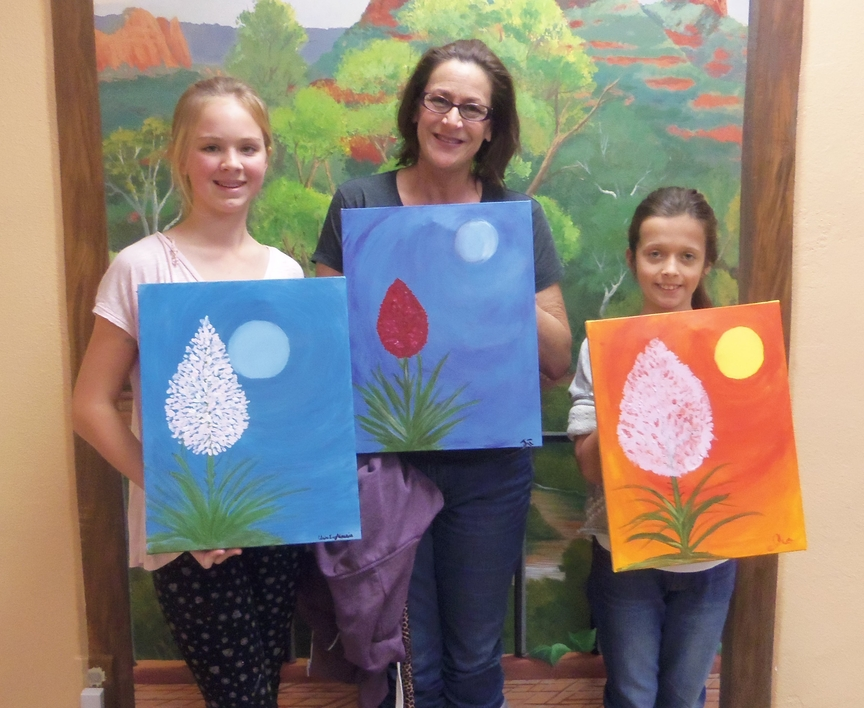 Painting flowers in Sedona