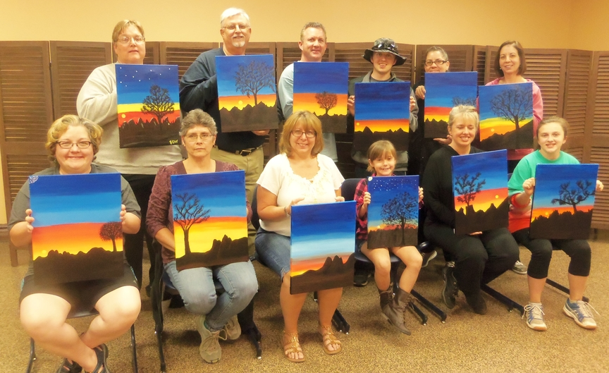 Paint Along Fun in Sedona