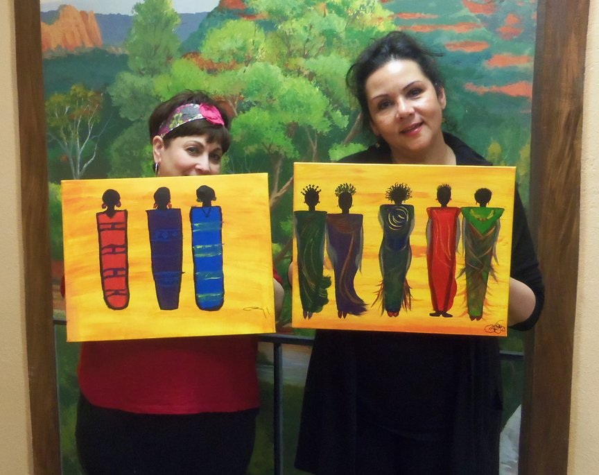 Painting art for entertainment in Sedona