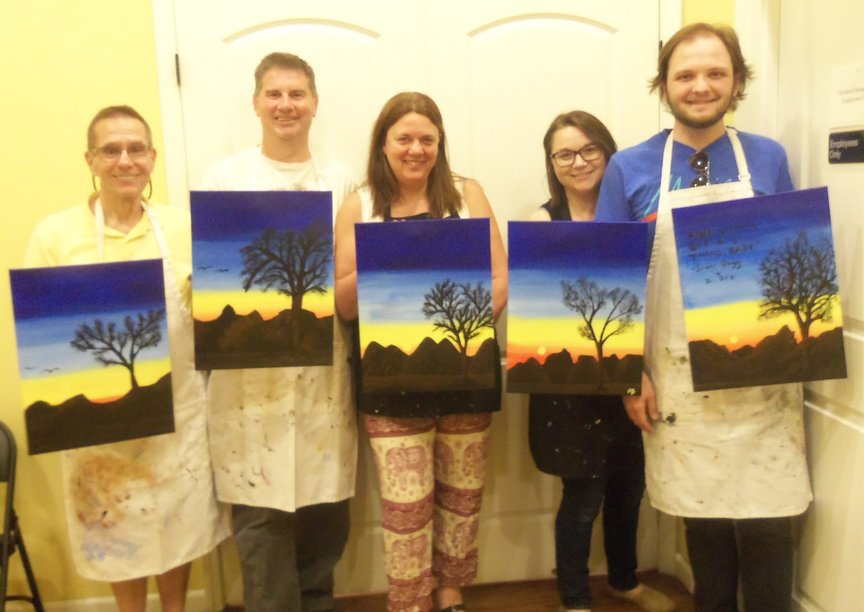 Paint Along For Fun at a resort in Sedona