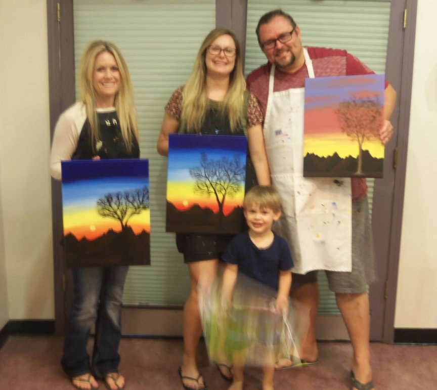 the joys of creativity with Paint Along For Fun in Sedona