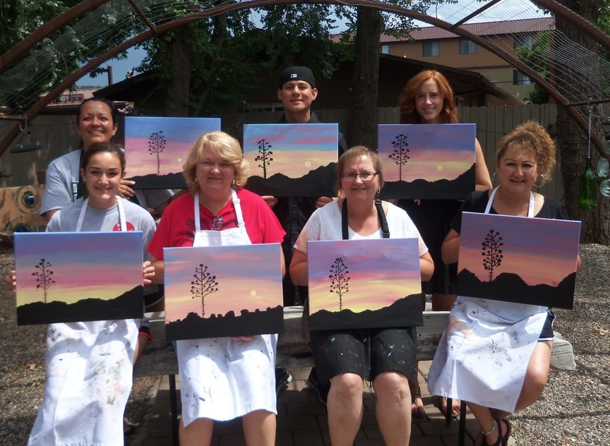 Afternoon Entertainment with Paint Along For Fun at Vino Di Sedona