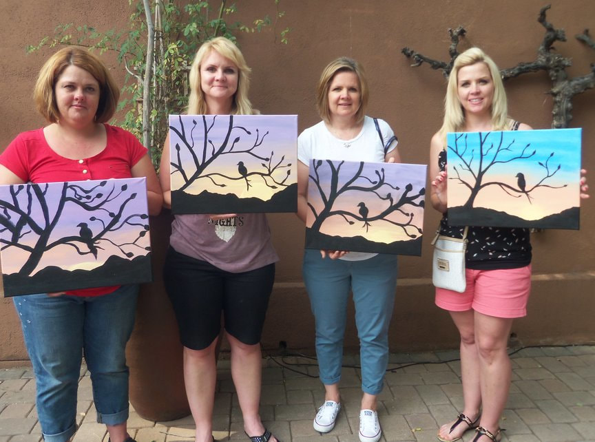 Sisters' Birthday Party at Vino Di Sedona with Paint Along For Fun