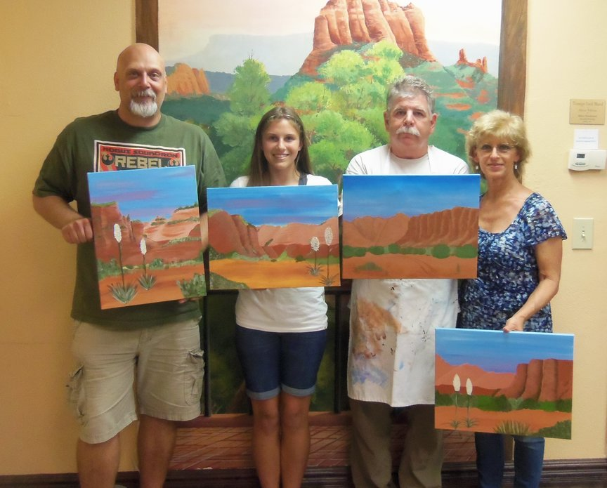 Painting Party in Sedona