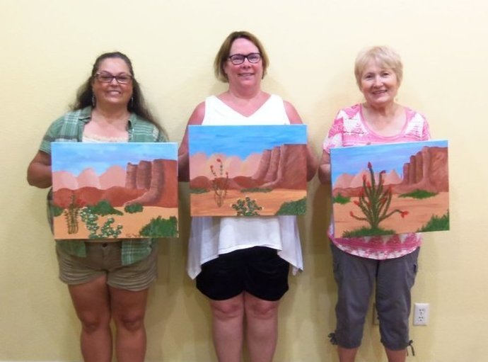 Paint Along For Fun evening in Sedona