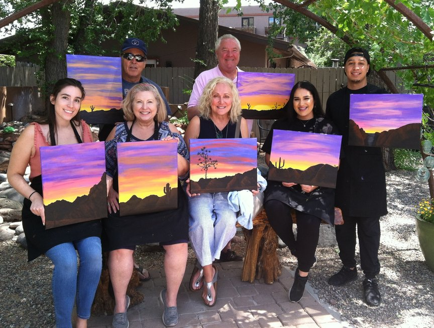 Saturday Afternoon Social Painting at Vino Di Sedona with Paint Along For Fun