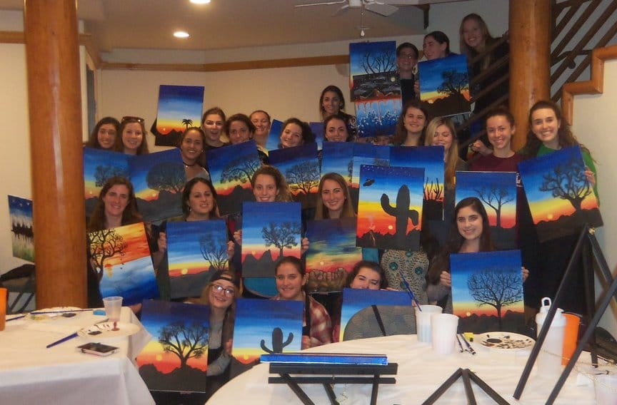 Heritage Retreat Group at Paint Along For Fun