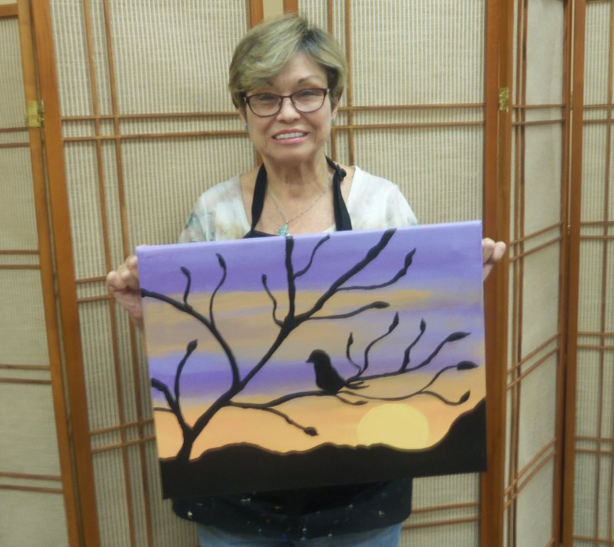 Social Painting in Sedona while on vacation