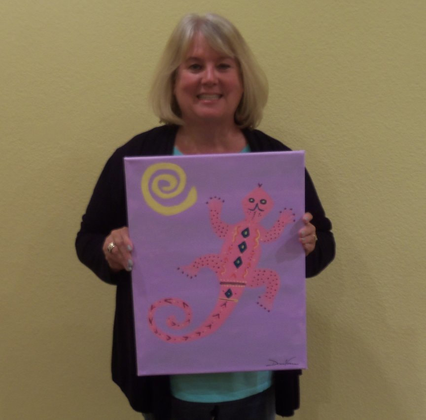 Having fun creating with Paint Along For Fun in Sedona