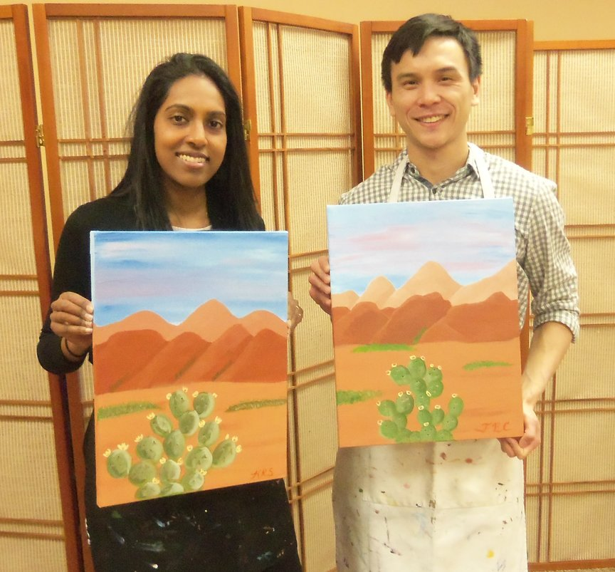 Sedona Paint Along For Fun class