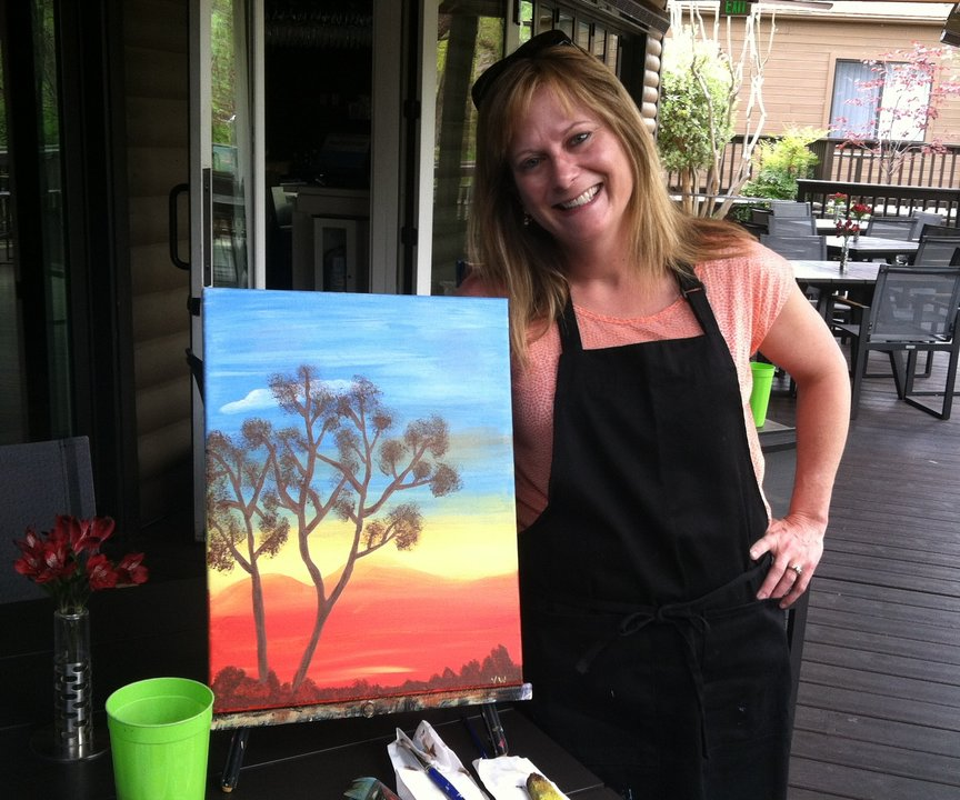 Paint Along For Fun in Sedona at L'Auberge