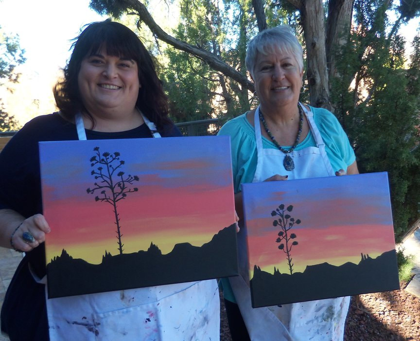 Monday Afternoon Paint-Along at the Hyatt in Sedona