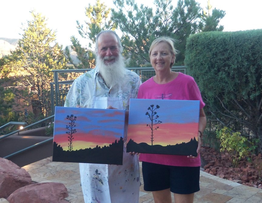 Painting a Sedona Sunset while vacationing