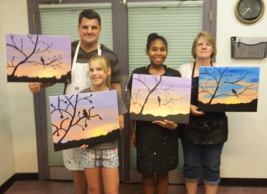 Family Creative Painting Entertainment in Sedona