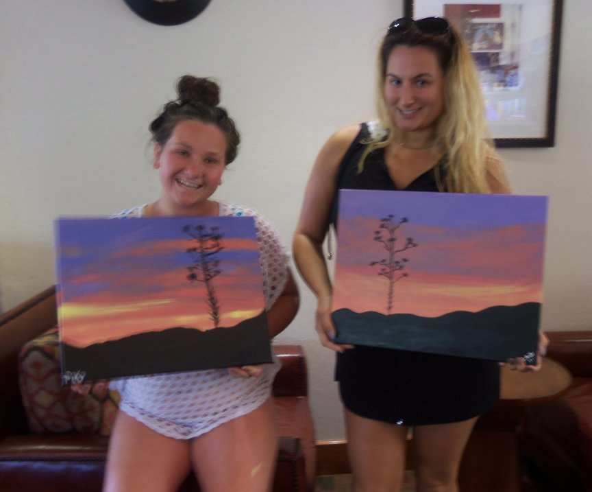 Monday afternoon Paint Along For Fun in Sedona