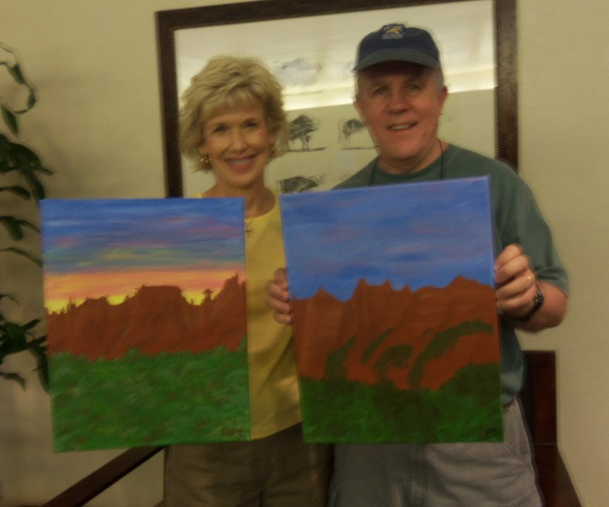 Paint Along For Fun on Monday afternoon at the Hyatt in Sedona