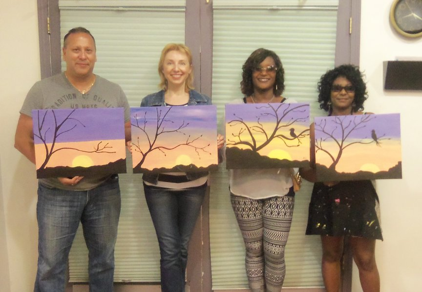 Social Painting in Sedona with Paint Along For Fun