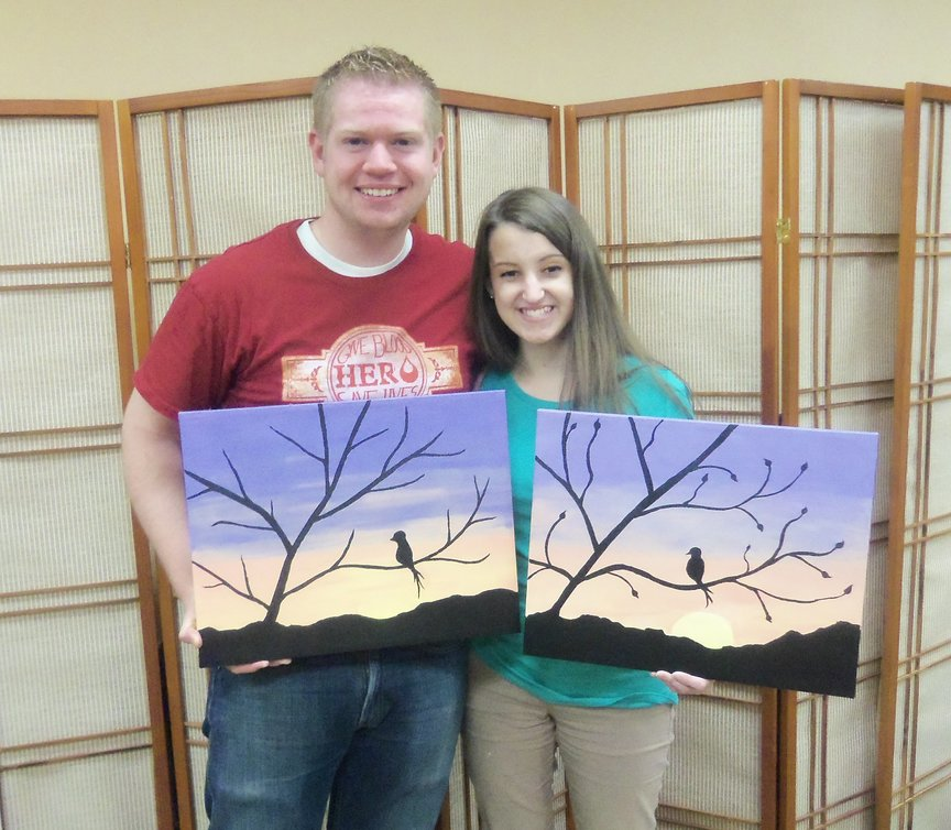 The fun of trying something new together with Paint Along For Fun in Sedona.