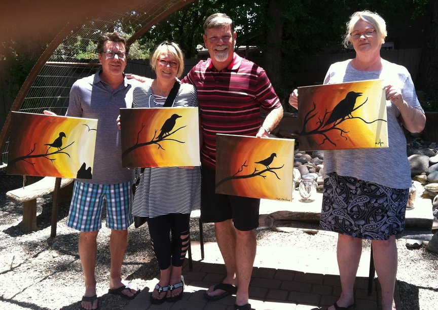 Paint Along at Vino Di Sedona