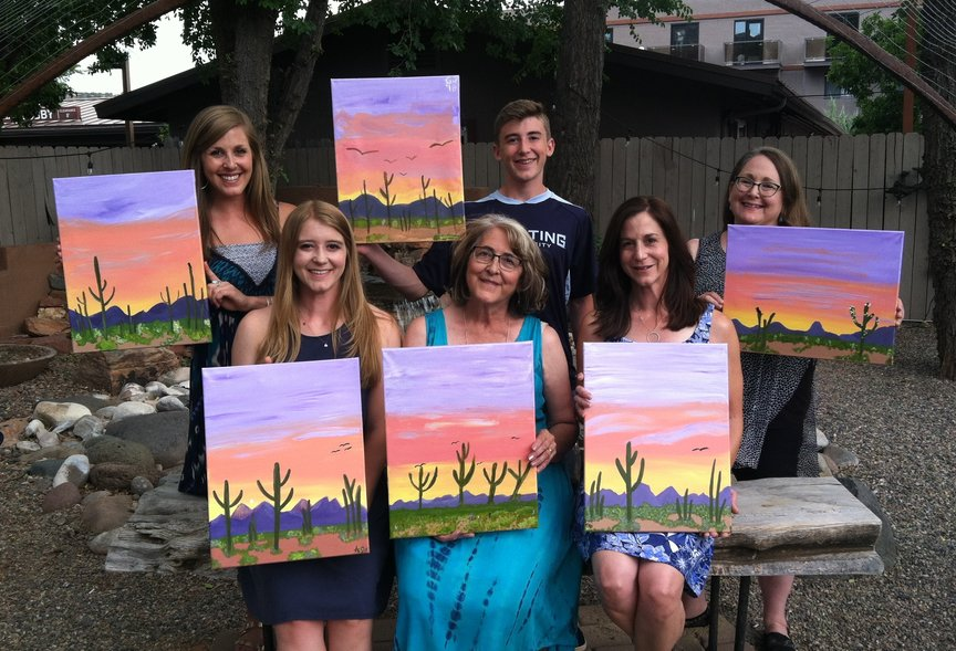 Celebrating Family Style with Paint Along For Fun in Sedona