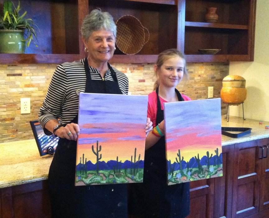 Painting with Paint Along For Fun at the Hyatt Pinon Pointe in Sedona