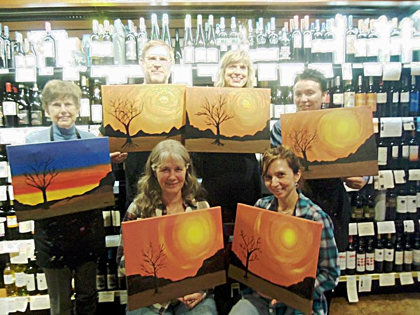 Painting at Vino Di Sedona with Paint Along For Fun