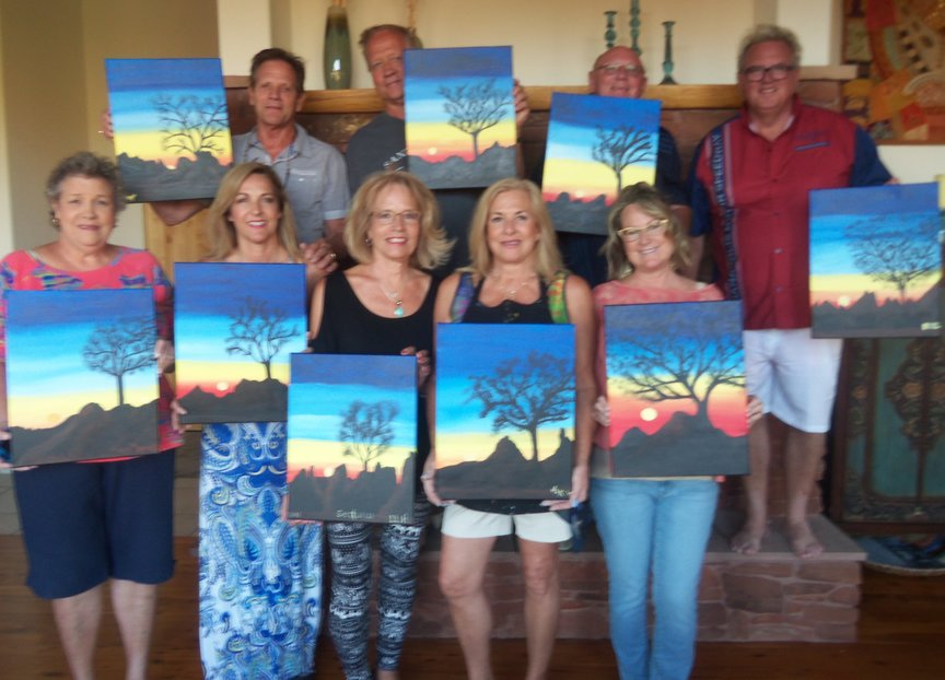 Birthday Celebration at Seven Canyons in Sedona with Paint Along For Fun