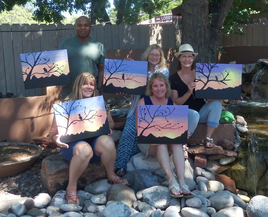 Paint Along For Fun at Vino Di Sedona