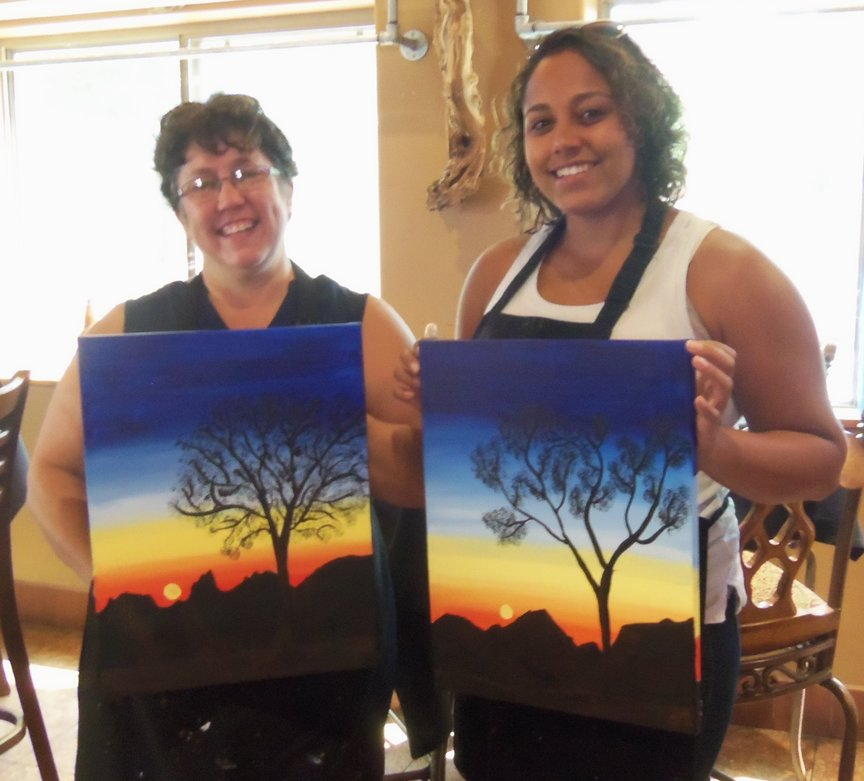 Mother/Daughter Painting For Fun in Sedona