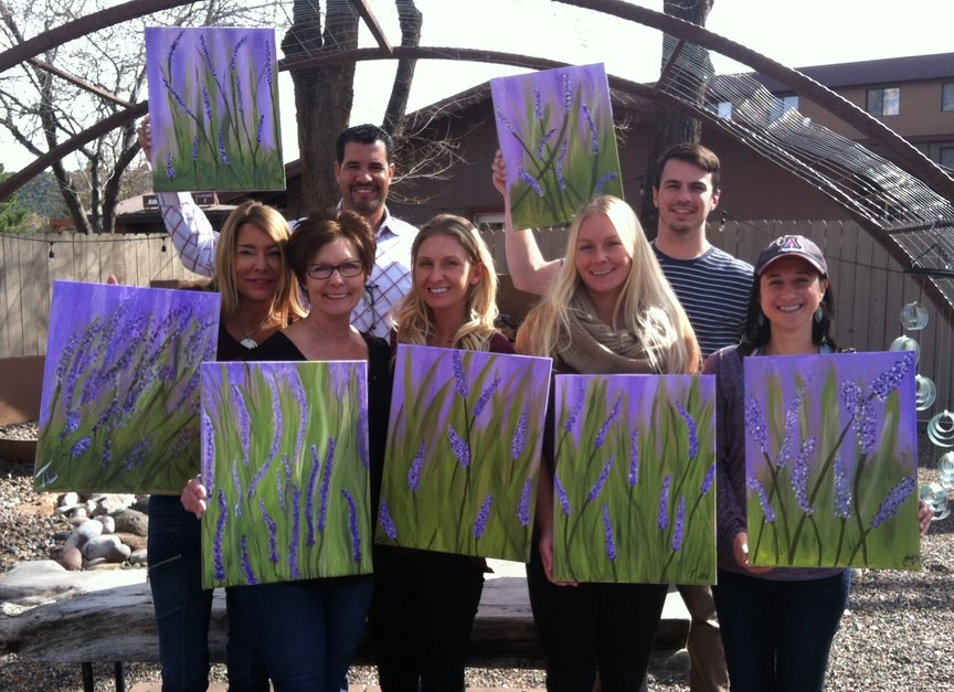 Monthly social Painting in Sedona with Paint Along For Fun